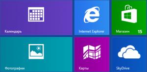 экран с ярлыками в Windows 8